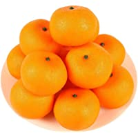 HAKSEN Lifelike Simulation Oranges Fake Fruit Home Kitchen Cabinet Decoration12 PCS