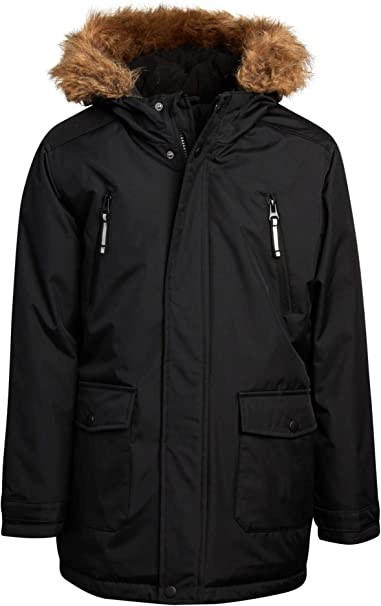 CHEROKEE Boys' Winter Coat - Heavyweight Polar Fleece Lined Puffer Parka Jacket
