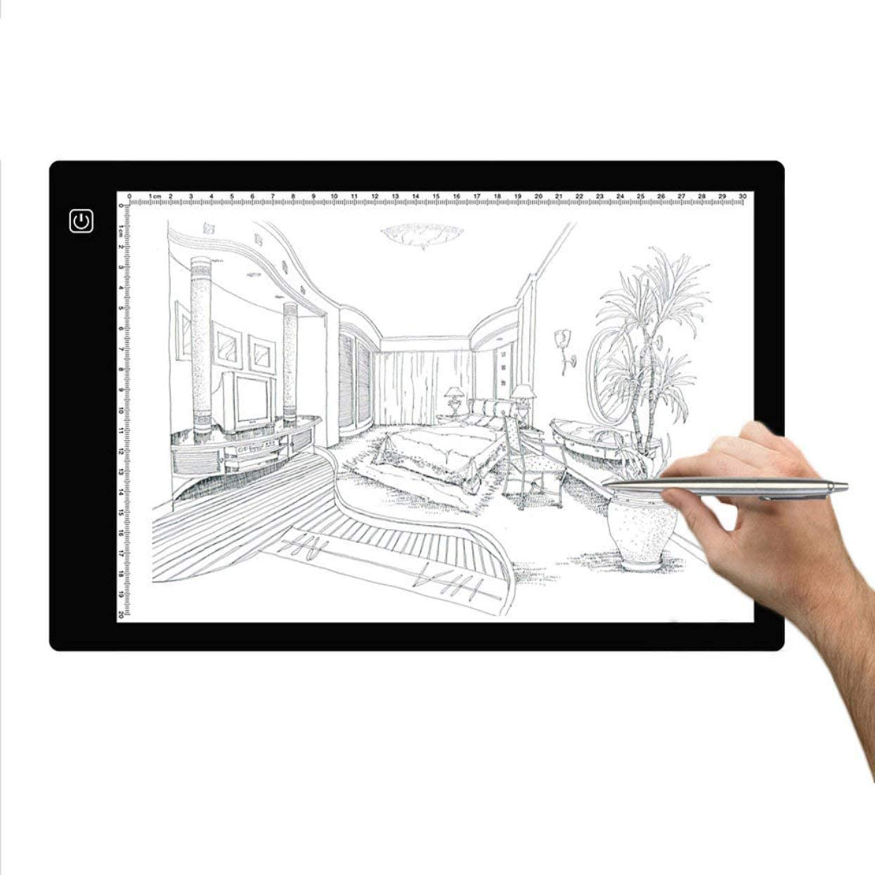 A4 Light Pad,Norbase Ultra-Thin Portable Tracing LED Copy Board Table,Adjustable USB Power Light Box Tracer for Drawing,Sketching,Animation,Stenciling,Calligraphy with 12 Color Pencils