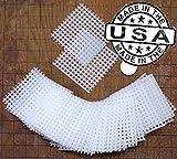 (50) 2x2 Inch Rigid Polyethylene Medium Bonsai Pot Mesh Drainage Screens