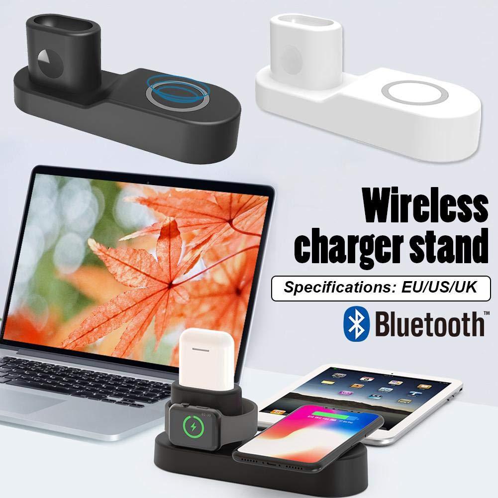 StageOnline 4 en 1 Airpods Base de Cargador & Celular Soporte Sobremesa para Apple/Watch / iPhone/Samsung Galaxy S9 / S9 + / S8 / S8 / S7 / Note8 y ...
