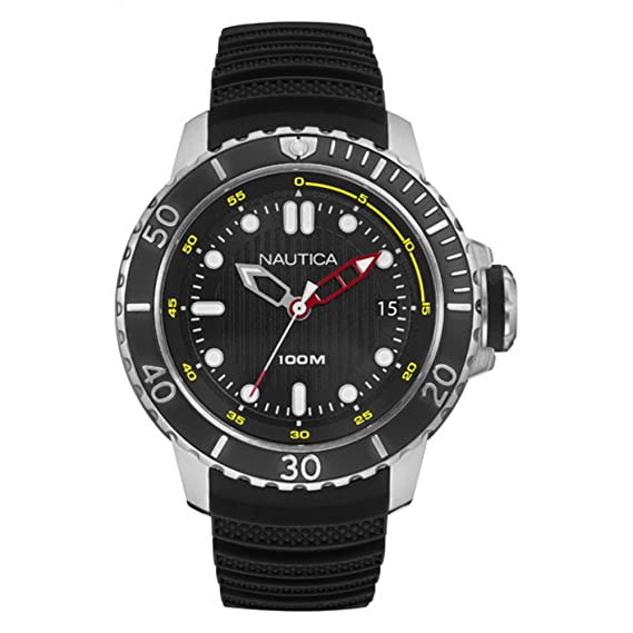 incontrare c7e08 ef5b7 Nautica Orologio Analogico al Quarzo Uomo con Cinturino in Silicone  NAD18519G