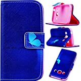 G7102 Case Galaxy Grand 2 G7102 Kickstand Case,Tribe-Tiger Beautiful Butterfly Design Premium Leather [Built-in Card Slots] Magnet Flip Kickstand Case Cover for Samsung Galaxy Grand 2 Duos G7102