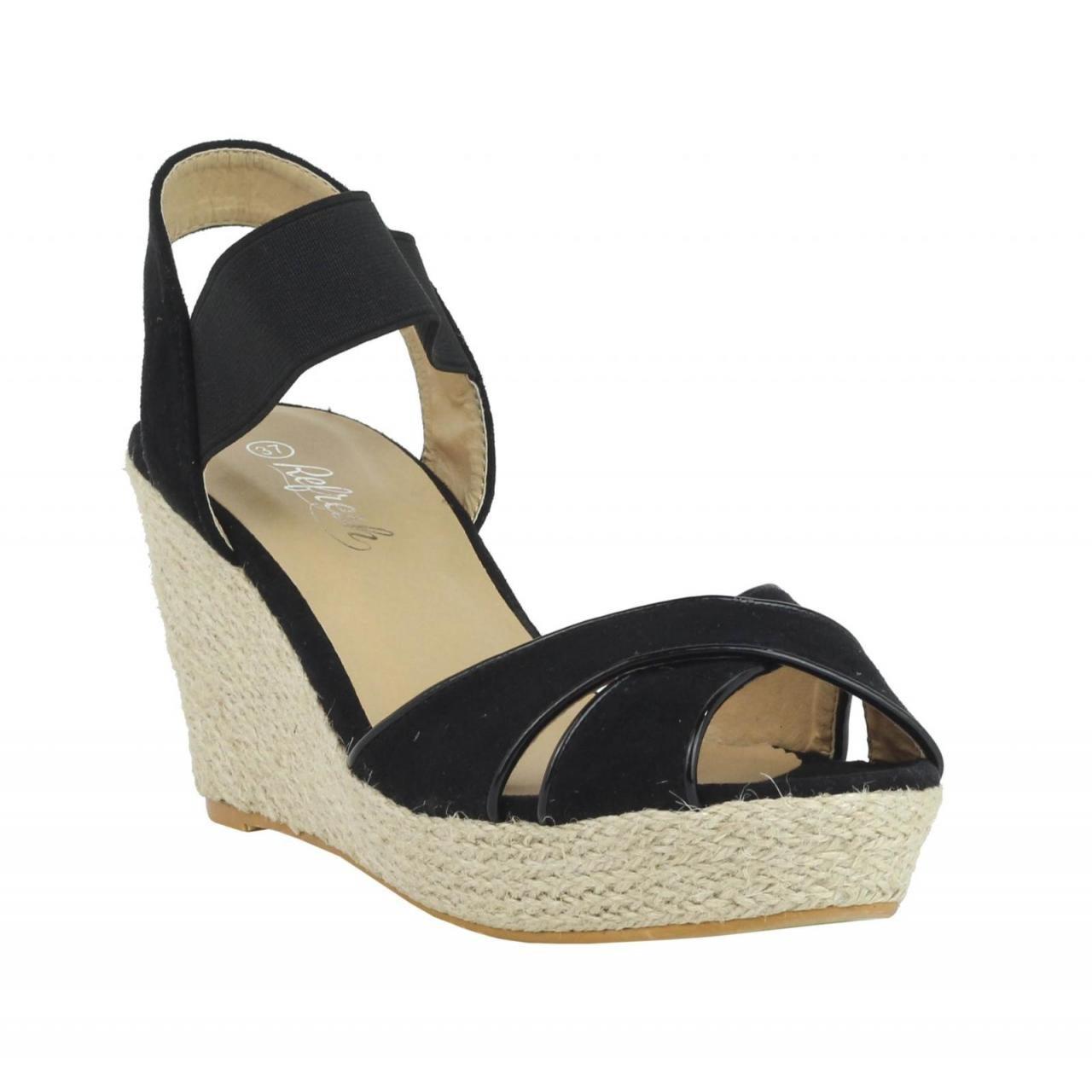 Refresh Schuhe Keilabsatz für für für Damen 61953 ANT schwarz 444ccc