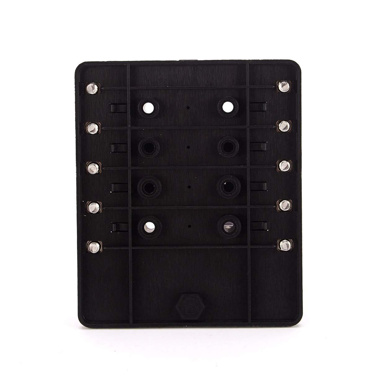 Jinxuny Caja de Placa de fusibles de la Placa de 10 v/ías Caja de fusibles de la Hoja de 12V 24V con Kit de Luces de Advertencia LED para el Juego de 1 Carro del Barco Porta fusibles 10 v/ías