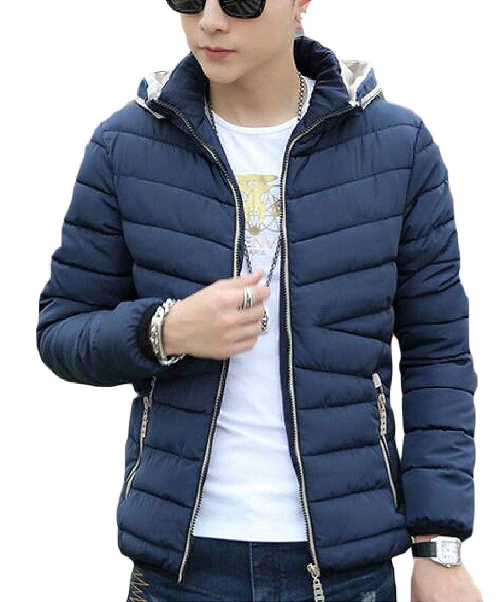 CBTLVSN Mens Winter Thicken Down Coat Hoodie Warm Parka Coat Outerwear