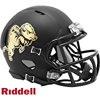 $29 » Colorado Buffaloes Black Matte Shell Riddell Speed Mini Football Helmet with Gold Chrome Decals - New in Riddell Box