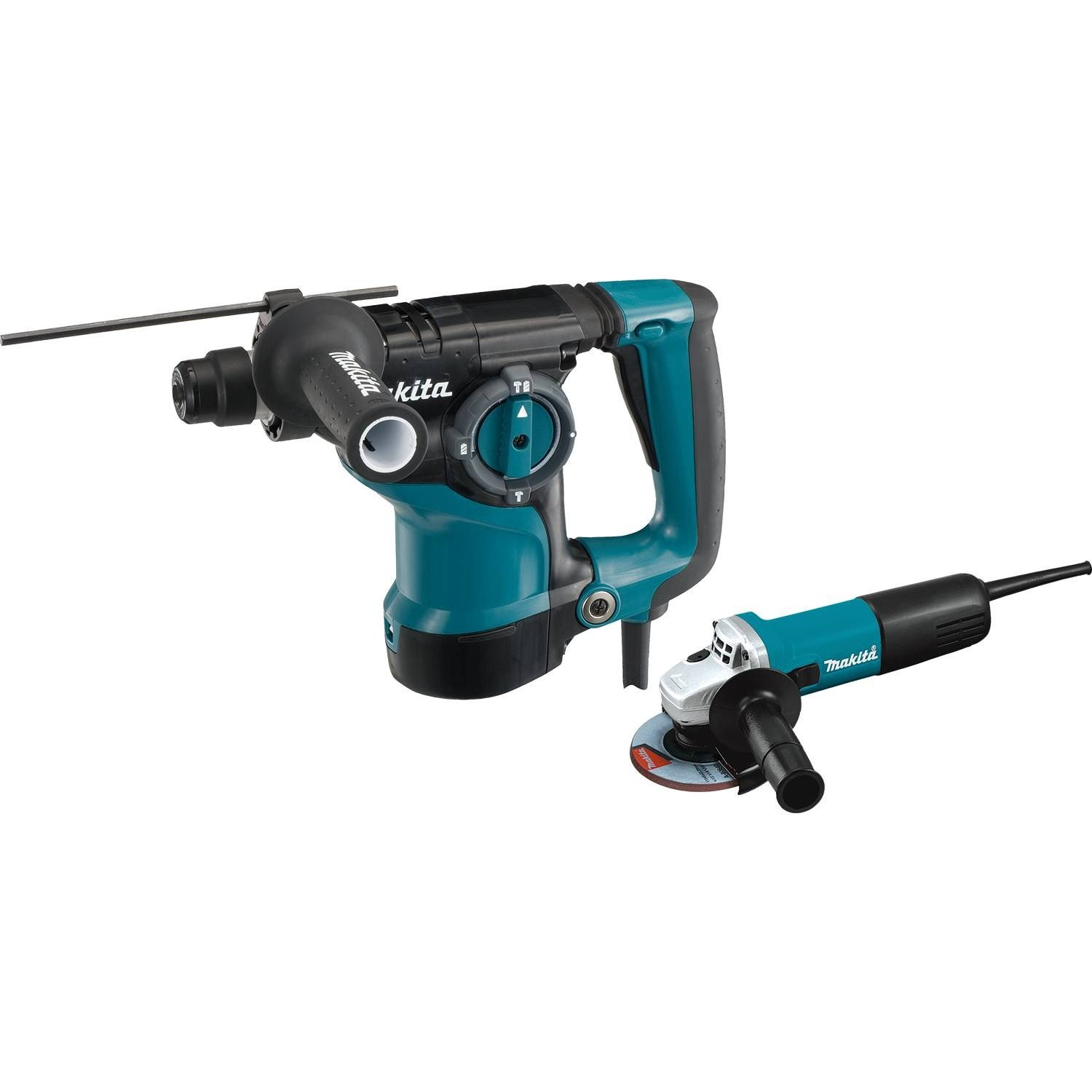 Makita HR2811FX 1-1/8'' Rotary Hammer, accepts SDS-PLUS bits and 4-1/2'' Angle Grinder by Makita (Image #1)