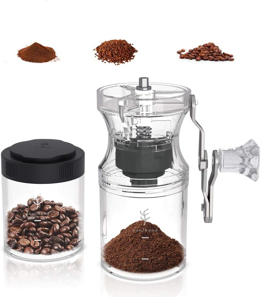 Professional Portable Adjustable Home Cafe Grade Manual Coffee Bean Grinder USA