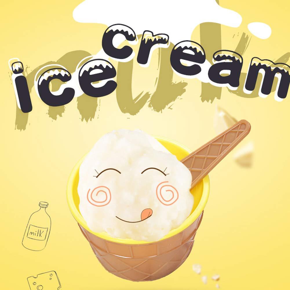 BESTZY 4pcs Ciotole per Gelato Cucchiaio Gelato Ice Cream ciotole plastica coppe gelato Frozen yogurt con cucchiaini da dessert frutta ciotole per Kids