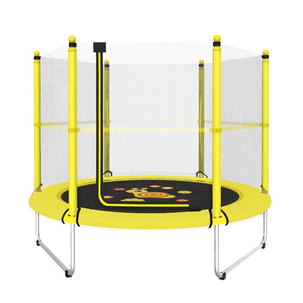 Übungs-Trampolin Gartentrampoline Bungee Spring Mini-Trampolin Indoor-Kinder-Sprungbett für Kinder Kind mit Netztrampolin Trampolin mit Korb, tragend 100KG Trampoline