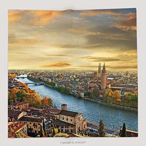 Verona Tv Chest (Custom Beautiful Romantic Verona On Sunset Italy 156723344 Soft Fleece Throw Blanket)