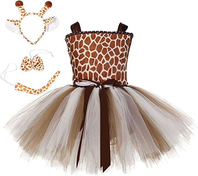 Cos-Mint Disfraz de Ciervo de Navidad para niñas con tutú para ...