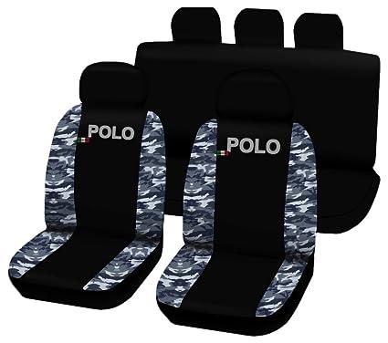 Lupex Shop Polo.N.MB Fundas para Asientos, Color Negro, Diseño de ...