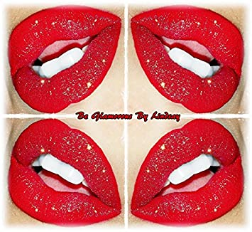 Glamorous Chicks Cosmetics-Red Matte Liquid Lips Red Glitter
