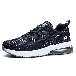 Women's Sports Running Shoes Mesh Breathable Lightweight Trail Girls Tennis Sneakers Dark Grey, 8.5