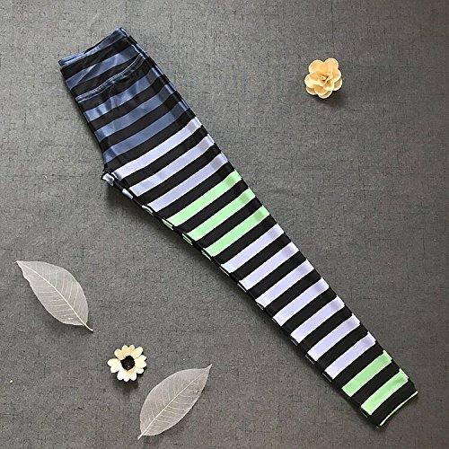 MAYUAN520 Damens's Circle Stripes Serie Fitness Yoga Hose 3D Sport Hosen Engen Hosen Hosen Stretch Gestreift