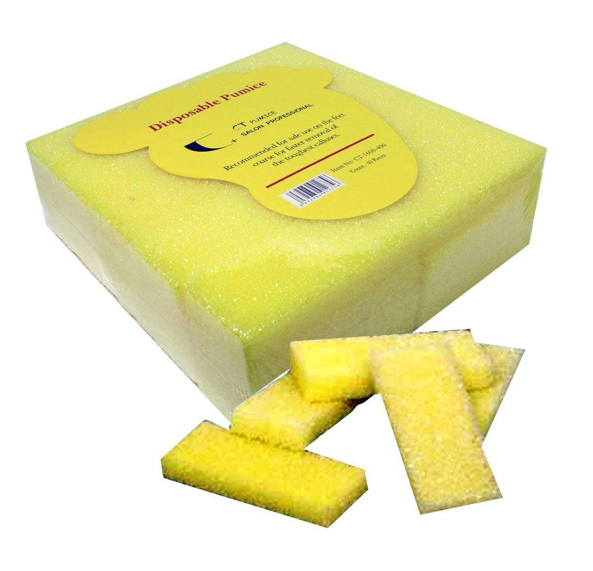 40pc Coarse CT Mini Disposable Pumice Pads -Yellow: Beauty