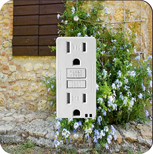 Rikki Knight 1133 Tuscan Window with Flowers Design Light Switch Plate