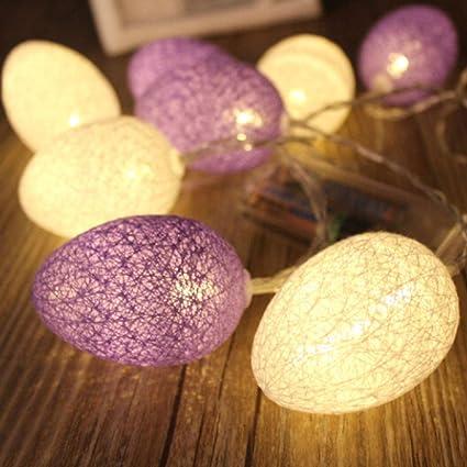 Outdoor Lighting Lighting Strings Energetic For Party Decoration Led Lamp Light Decoration 1.8m 10led Egg Shape String Lights Led Light