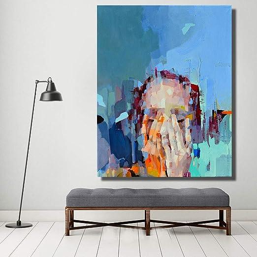 XIAOXINYUAN 100% Pintados Al Óleo Abstracto Arte Mural Mano ...