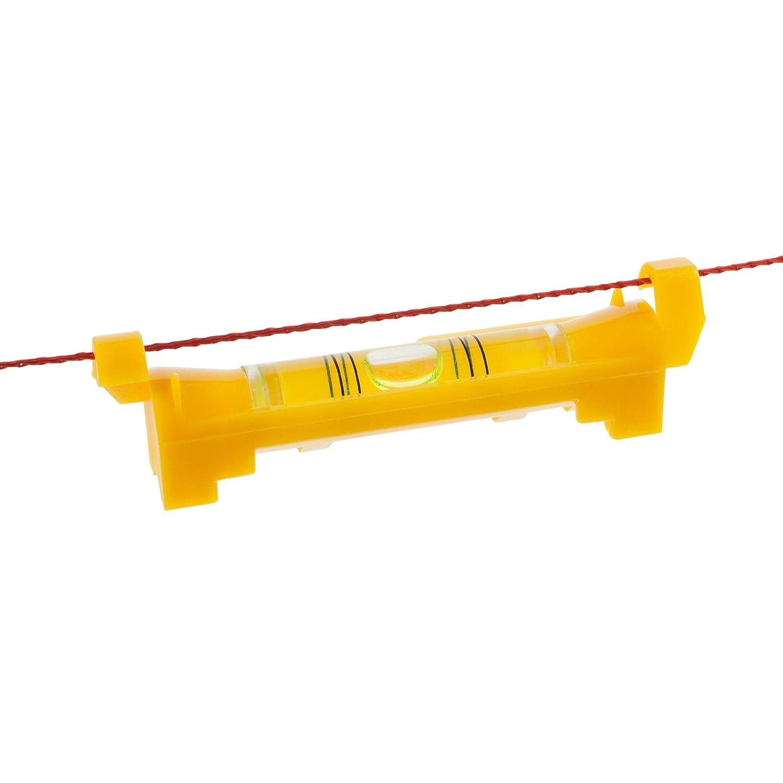 Smartfox Schnurwasserwaage Schnur-Wasserwaage Lot Messwaage Prü fwerkzeug fü r Pflaster Verlege Maurerschnur 75mm in gelb