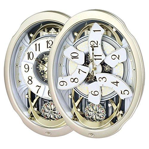 - RHYTHM 4MH842WD18 Marvellous Thirty Melody Wall Clock Swarovski Crystals Gold