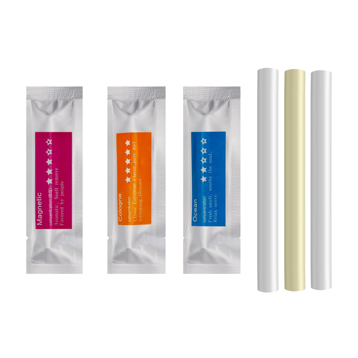 Refills for Solid Air Freshener, Replacement Aroma Bars - Aroma 3 Sponge Sticks (Cologne, Ocean, Magnetic) She-Lin