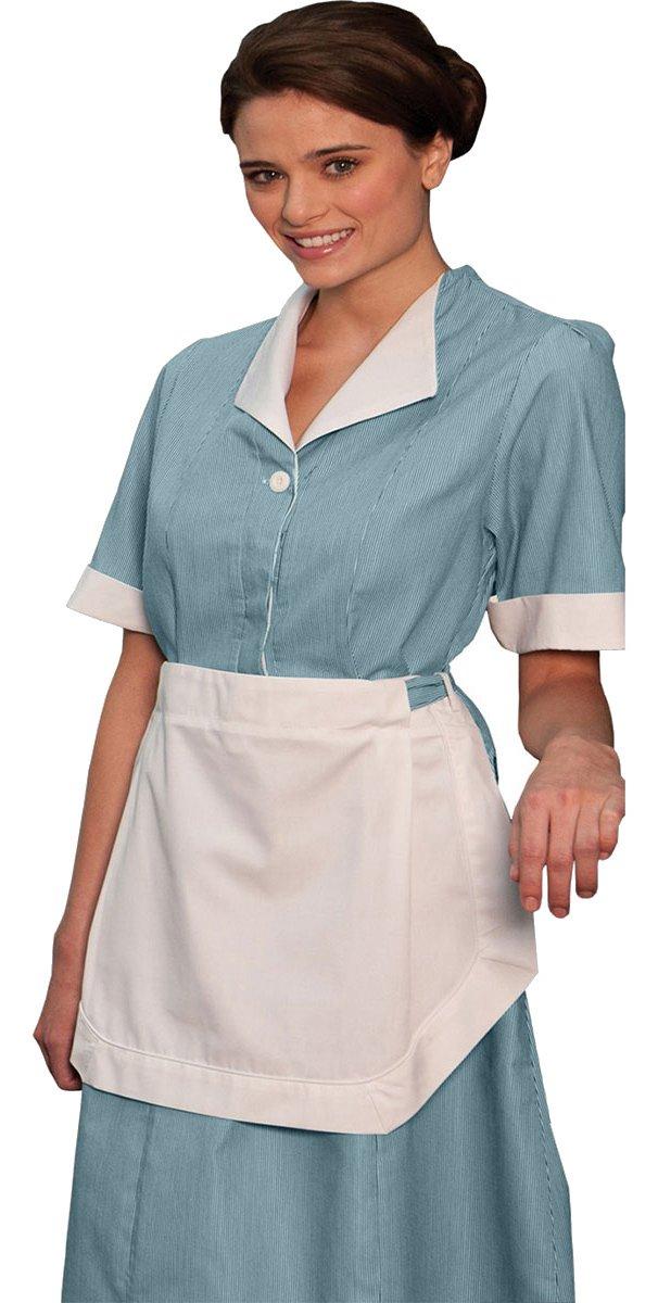 Ed Garments Junior Cord Housekeeping Dress, TEAL, E