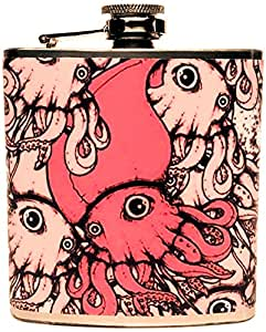 The Life Imagined Squid Stainless Steel Flask, 6-Ounce