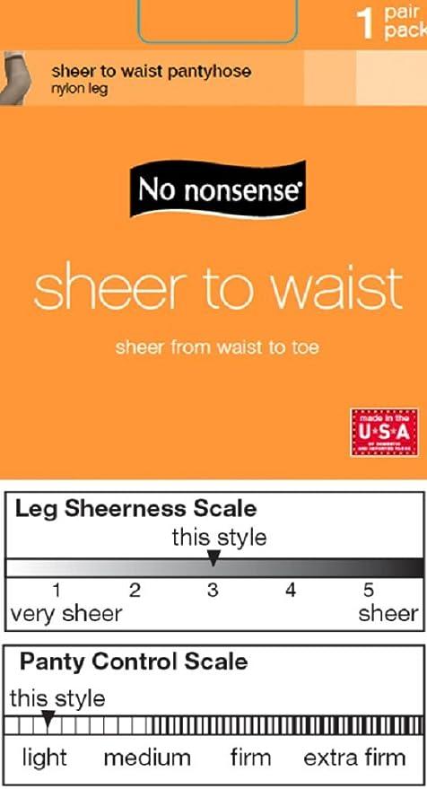 3b220a2ee3e No Nonsense Women s Sheer To Waist Sheer Toe Hosiery  Amazon.ca  Clothing    Accessories