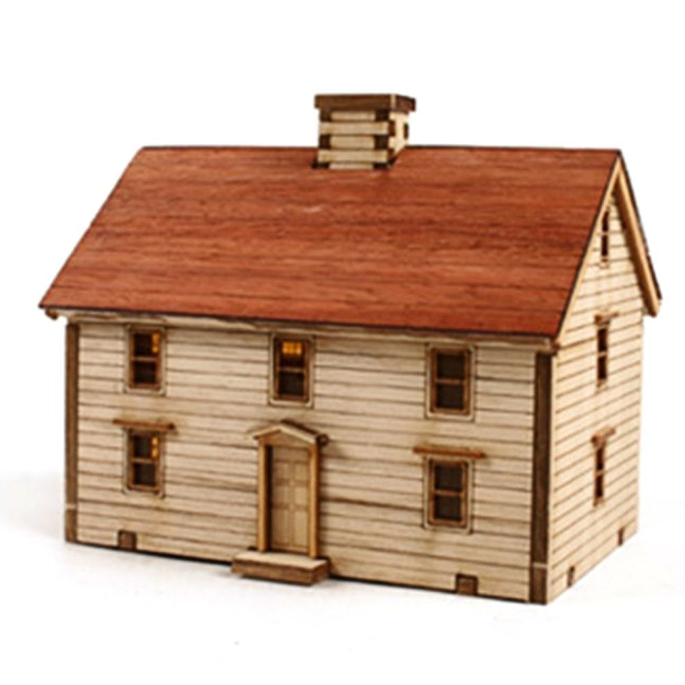 Young Modeler HO Serises Desktop Wooden Model Kit Western Farmhouse YM623 YOUNGMODELER