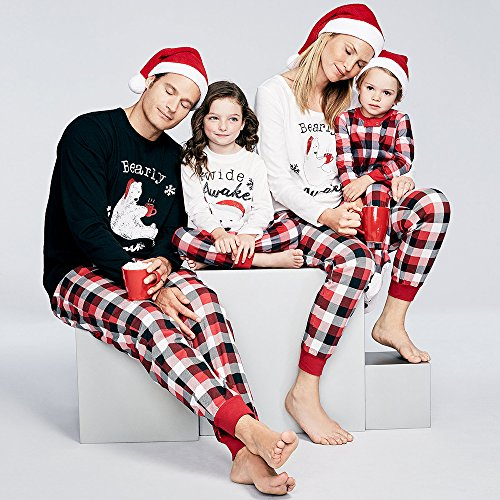 Christmas Baby Nightwear Set, Neaer Women Men Child Two Piece Sets Hoodie T Shirt and Pants For Family Holiday Lovers -