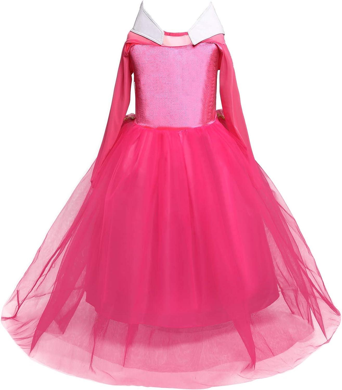 HNXDYY Girls Princess Dress Costume Carnival Party Elegant Dress Size 4-9 Years