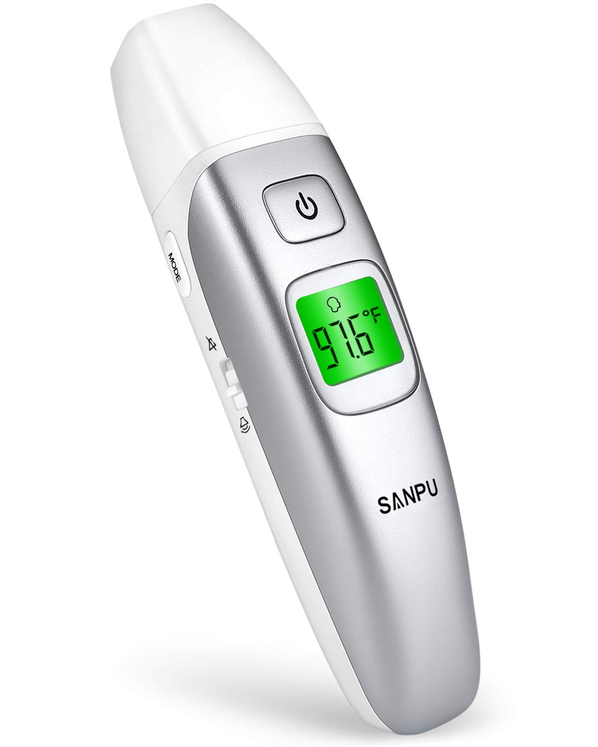 SANPU Infrared Forehead and Ear Thermometer, Suitable for Baby, Toddler and Adults with FDA and CE Approved
