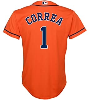 e9a4f9a1bb4 Outerstuff Carlos Correa Houston Astros  1 Orange Youth Cool Base Alternate Replica  Jersey