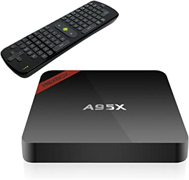 NEXBOX A95X Android 6.0 Smart TV BOX Amlogic S905X Quad Core 2GB/16GB Bluetooth 4.0 2.4G/5G Wifi Google VP9 4k 3D 1080P TV Box Streaming Media Player with RC11 Air Mouse: Amazon.es: Electrónica