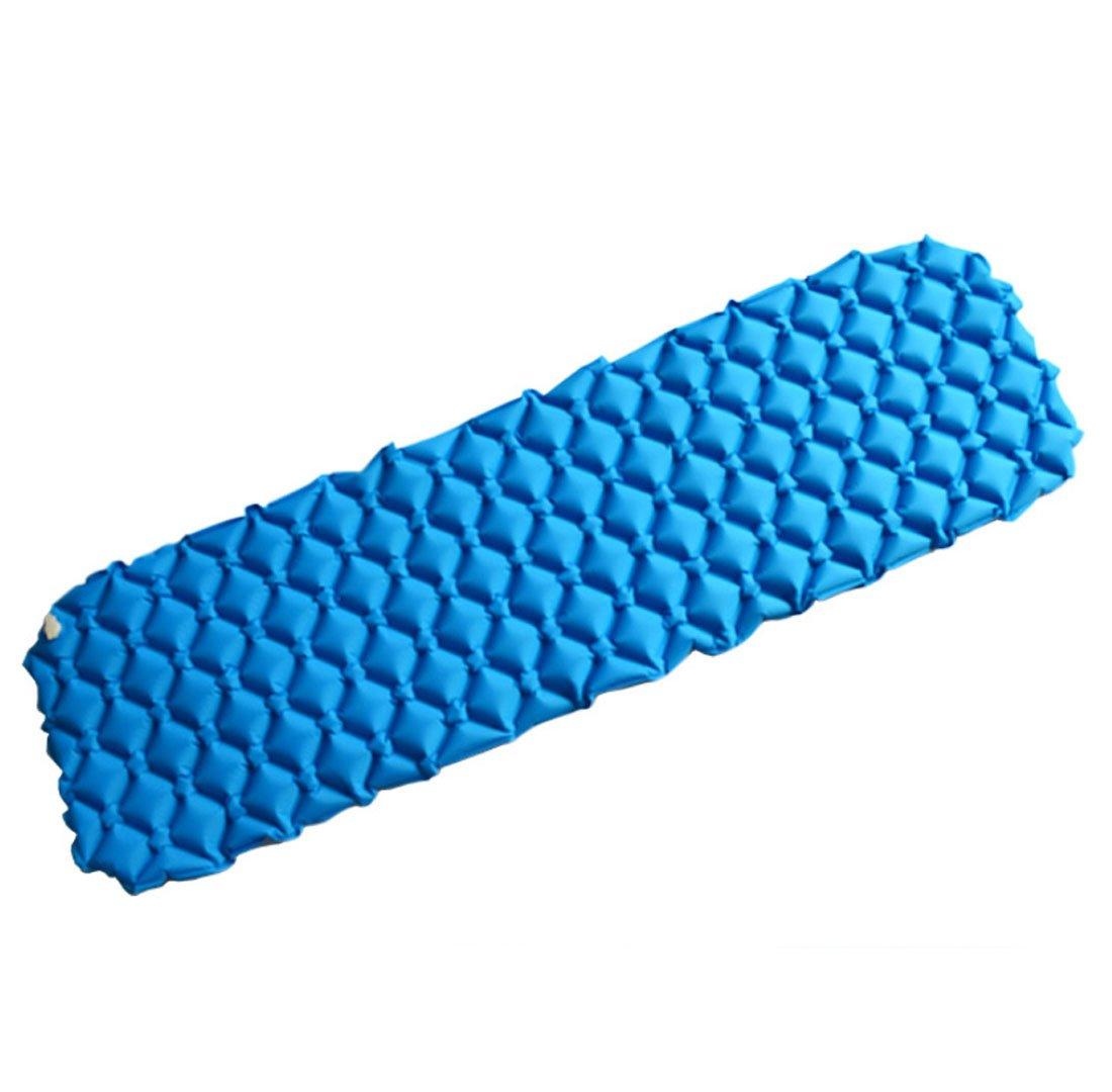 QQBL Honeycomb Nest Ei Groove Portable Outdoor Camping Einzigen FeuchtigkeitsBesteändige Nylon Blau Aufblasbare Matte