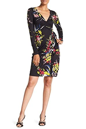 e55a3b9b236 Image Unavailable. Image not available for. Color  Diane von Furstenberg  Long Sleeve Julian Wrap ...