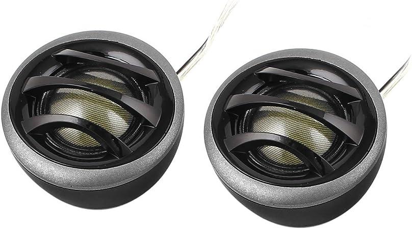 Pair 2 150w Micro Dome Car Audio Tweeters Speakers Black Gray Mp3 Hifi