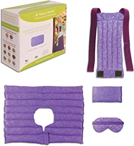 Nature Creation Ultimate Set- Herbal Heat Pack/Cold Pack – Microwavable & Reusable Aroma Heat Therapy for Stress, Anxiety Relief (Purple Marble)