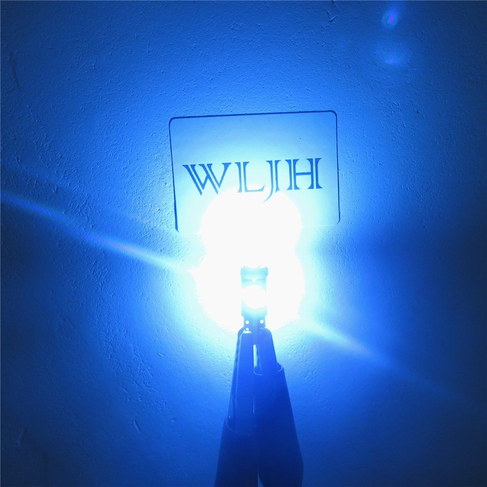 WLJH 6 Pack Super Bright LED Instrument Panel Bulbs T5 LED Light Bulb 3030 Chipsets 70 37 74 Cluster Speedometer Odometer Temp Gauges Lighting Lamp,Green