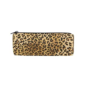 JOKERR Pencil Case Animal Leopard Print Pencil Bag Pen Zipper Bag Pouch Organiser Makeup Brush Bag for Girls Stationery Office Supplies