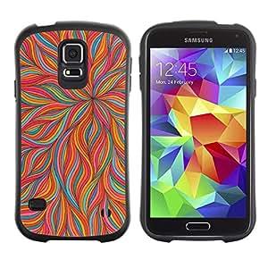 """Hypernova Slim Fit Dual Barniz Protector Caso Case Funda Para Samsung Galaxy S5 [Pétalo rosado floral del trullo colorido""""]"""