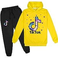 Unisex TIK Tok Conjunto 2 Piezas para Niños TIK Tok Sudadera con Capucha y Pantalones de Chándal Ropa