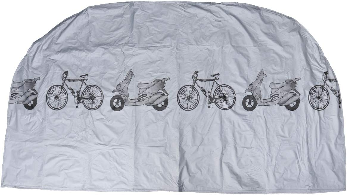 LIOOBO Cubierta para Bicicleta de la Motocicleta Cubierta Exterior Protectora Universal Impermeable Lluvia Viento Polvo para Mountain Road Triciclo de Bicicleta eléctrica (Plata)