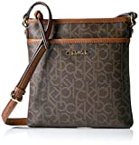 Calvin Klein Classic Monogram Crossbody, Brown/Khk/Luggage Saff