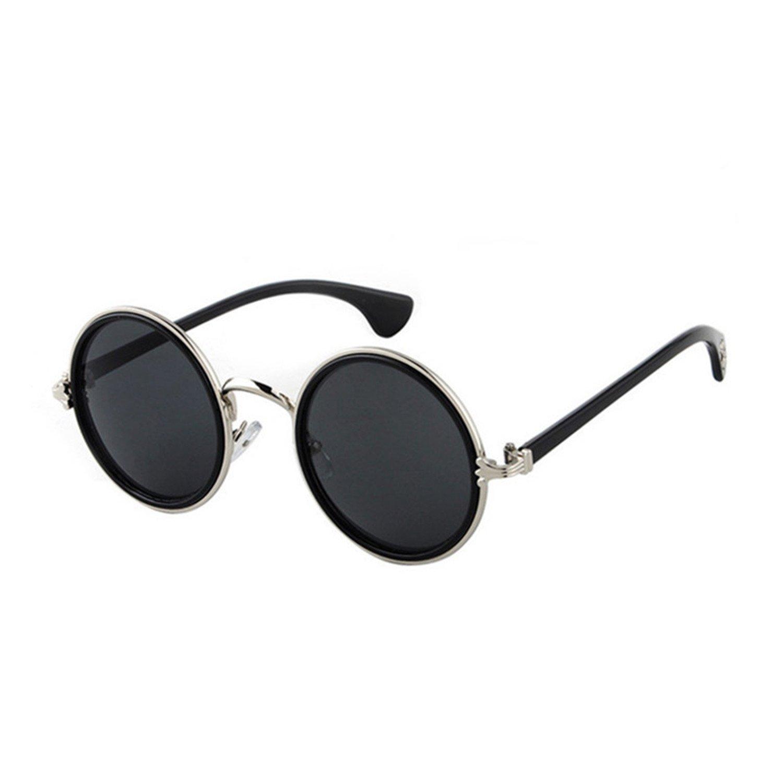 Amazon.com: Pink Round Sunglasses Women Retro Vintage Sun ...