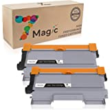 7Magic Cartucho de Tóner Compatible Brother TN2220 TN2210 TN2010 Cartucho de Tóner (2 Negro) de Alta Capacidad Para Brother MFC-7360N MFC-7360 DCP-7055 DCP-7055W DCP-7065DN HL-2130 HL-2135W HL-2240 Impresora