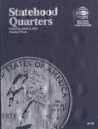 2006-2008 STATEHOOD QUARTER NEW WHITMAN TRI-FOLD No 8112 40 coin slot COIN; Album, Binder, Board, Book, Card, Collection, Folder, Holder, Page, Portfolio, Publication, Set, Volume
